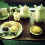 Yummy cream tea at Hotel Victoria