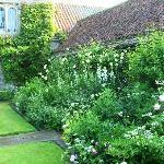 Ogle Castle garden border