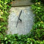The sundial on the wall