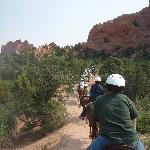 Horseback at Garden of the Gods, less than two miles away from Silver Saddle