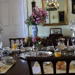 Another shot of the beautiful dining room and breakfast setting