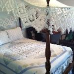 Comfy canopy bed at Haan's