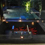 flower bath inside hotel room