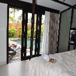 pool right outside bed