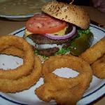 Double Cheeseburger & Onion Rings