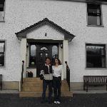 Us in Front of Corrigan's Shore Guest House