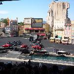The car and bike stunt show