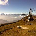 on top of the Pichincha volcano