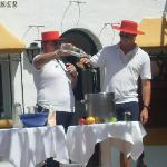Raffa & Will making great Sangria - do you join in the games - great fun!