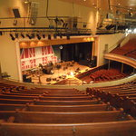 View of the stage, from the balcony