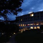 Hotel vom Garten aus