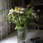 A nice touch - fresh wild flowers