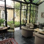 Lounge and garden area