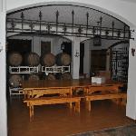Wine room for parties in the house