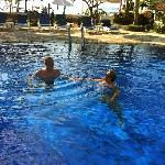 Nice pool with bar and sunbeds