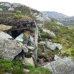 Shepherd's shelter in hills behind hotel