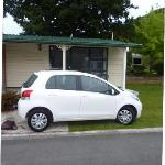 My car outside the cabin