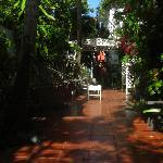 Garden terrace - a nice respite from the sun