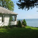 side of house on the Seneca Lake