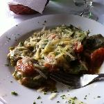 Spinach ravioli with gorgonzola