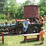 filling the steam engine with water