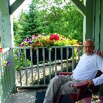 Mark outside on veranda