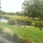 View from room window onto River Avon