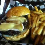 poached pear and Brie burger, excellent!