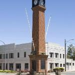 Playhouse Hotel and the Barraba clocktower
