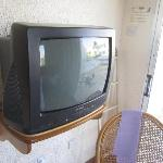 Old television matches the old hotel