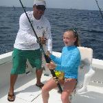 My daughter (now 12, then 10) about to catch a BARACUDA