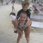 My son, (now 9, then 7) and daughter on the beach
