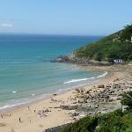 vue de la plage de la potinière carteret