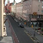 View from room down towards Main Square