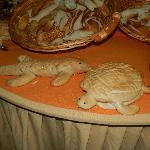Decoración en la mesa de los panes