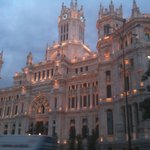 Plaza Cibeles- get off the airport express here to walk to the hotel