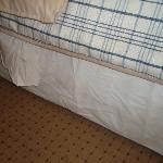 dirty wrinkled bed skirt