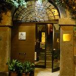 Entrance to Palazzo Ranucci restaurant