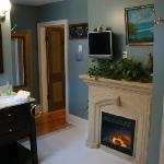 Hickerson bath fireplace