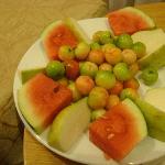 Welcoming fruit platter