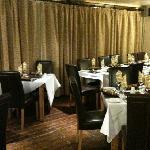 black lion's restaurant ready for Christmas!
