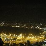 Haifa at night from the terrace.