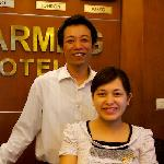 Hr Duc and Hong at Reception
