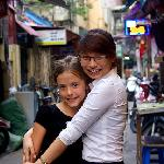 Ruby and Lien in the Street Outside Charming
