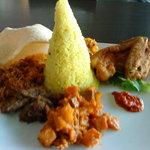 Yellow Langgi Rice (nasi kuning langgi)