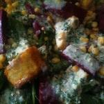 beetroot jelly and fresh paneer salad