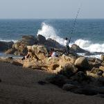 Fishing from Umhlanga Beach