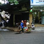 In front of Hanoi Hostel 2