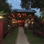 Madam Butterfly restaurant at night