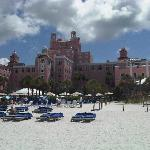 Beach view of the Don Cesar